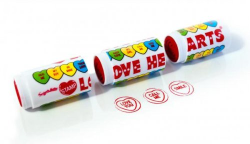 Trojitá pečiatka SUCK UK Love Hearts